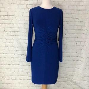 Vince Camuto Blue Long Sleeve Dress Size 8